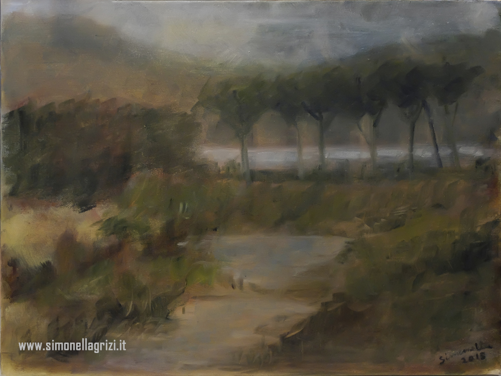 """Bocca D'Ombrone"", 2015 - Olio Su Tela Cm. 30 X 40"