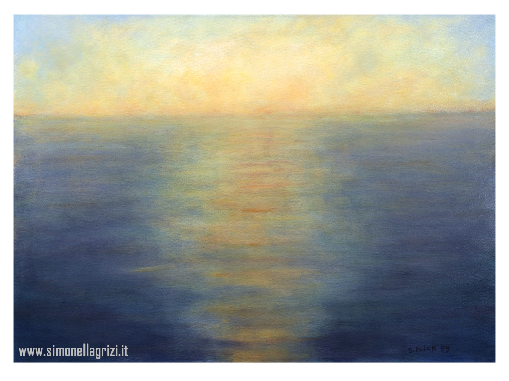 """""""Mare"""", 1999 - Olio Su Tela Cm. 50 X 70"""